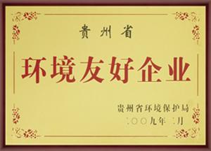 2009年贵州省环境友好企业